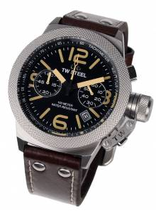 TW-Steel CS33 Canteen Leather Chronograph 45mm 10ATM
