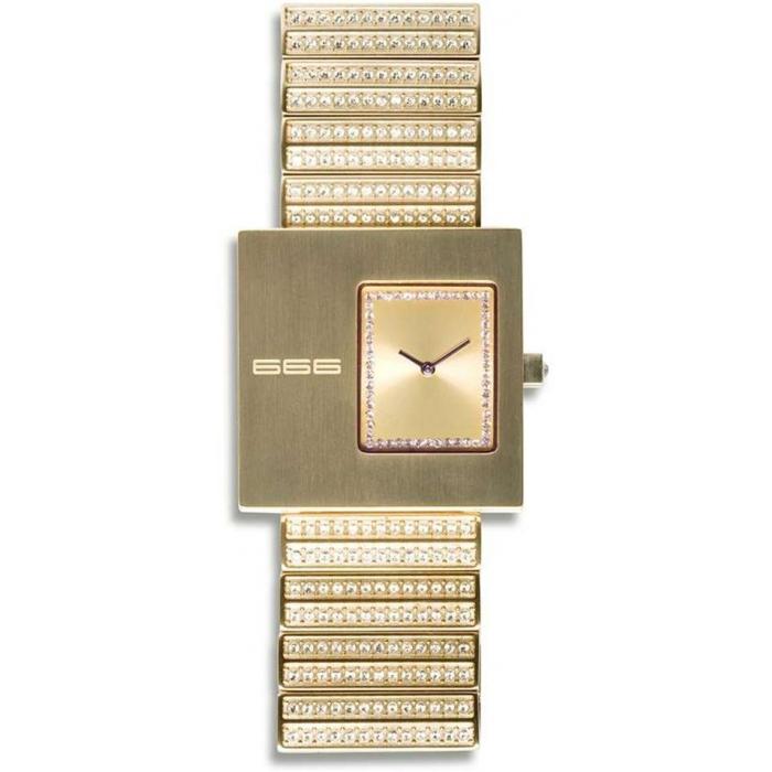 Ceas de dama 666BARCELONA MILLIONAIRE GOLD/GOLD 8424210001220