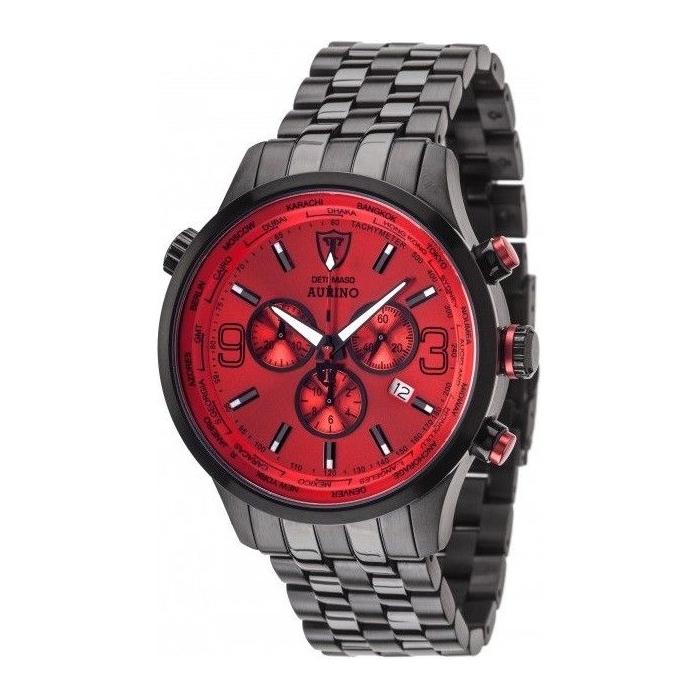 DETOMASO AURINO XXL Chronograph Black/Red DT1061-B