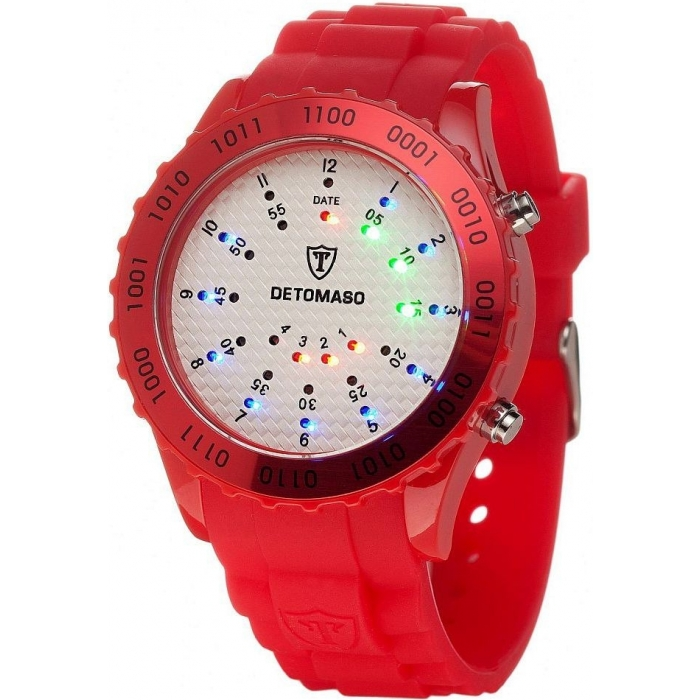 DETOMASO SPACY TIMELINE Silicon Red/White DT2015-Q