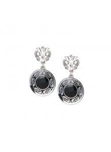 Cercei de argint Preciosa (Black) Magical Ornament